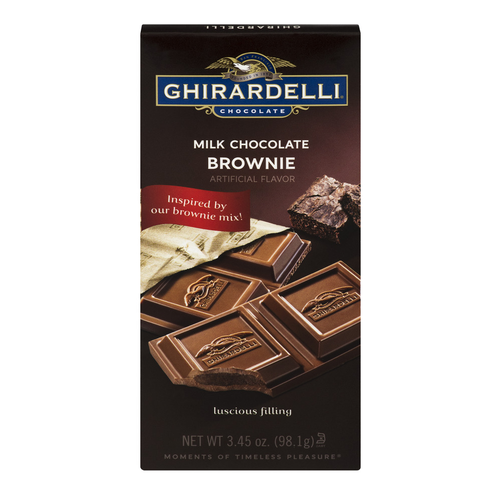 Ghirardelli Chocolate Milk Chocolate Brownie, 3.45 oz by Ghirardelli Chocolate Company