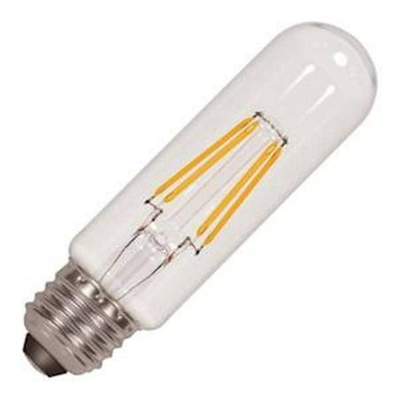 Satco 09580 - 4.5 watt 120 volt T10 Medium Screw Base Clear LED (4.5T10/LED/E26/27K/120V (S9580))