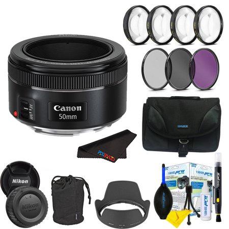 Pixi-Basic Accessory Bundle Canon EF 50mm f//1.8 STM Lens