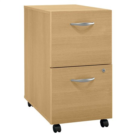 Light Oak Rolling File Cabinet - Series C