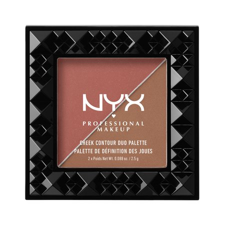 NYX Professional Makeup Cheek Contour Duo Palette, Wine And Dine - Hollow Cheeks Makeup Halloween