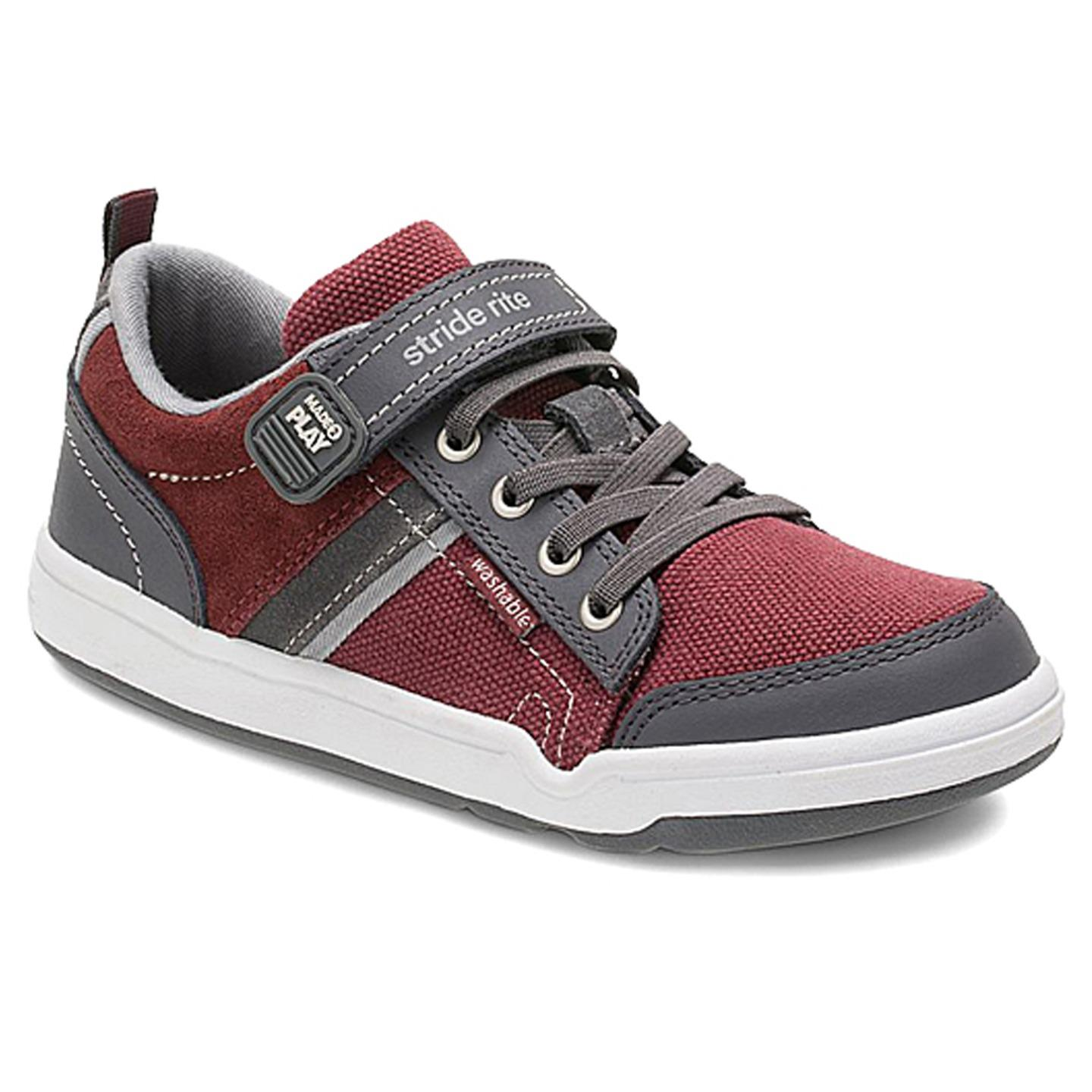 Stride Rite Boys' Made 2 Play Kaleb Sneaker, Oxblood, 12 M Little Kid by Stride Rite
