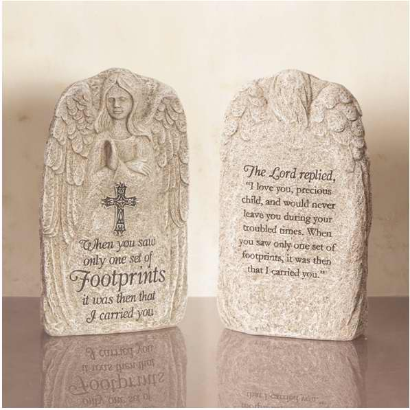 Stone-Angel Prayer-Footprints (7.5 x 4.5)