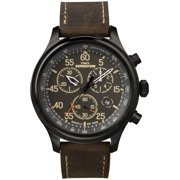 Timex Men's Expedition Field Chronograph Leather Strap Watches