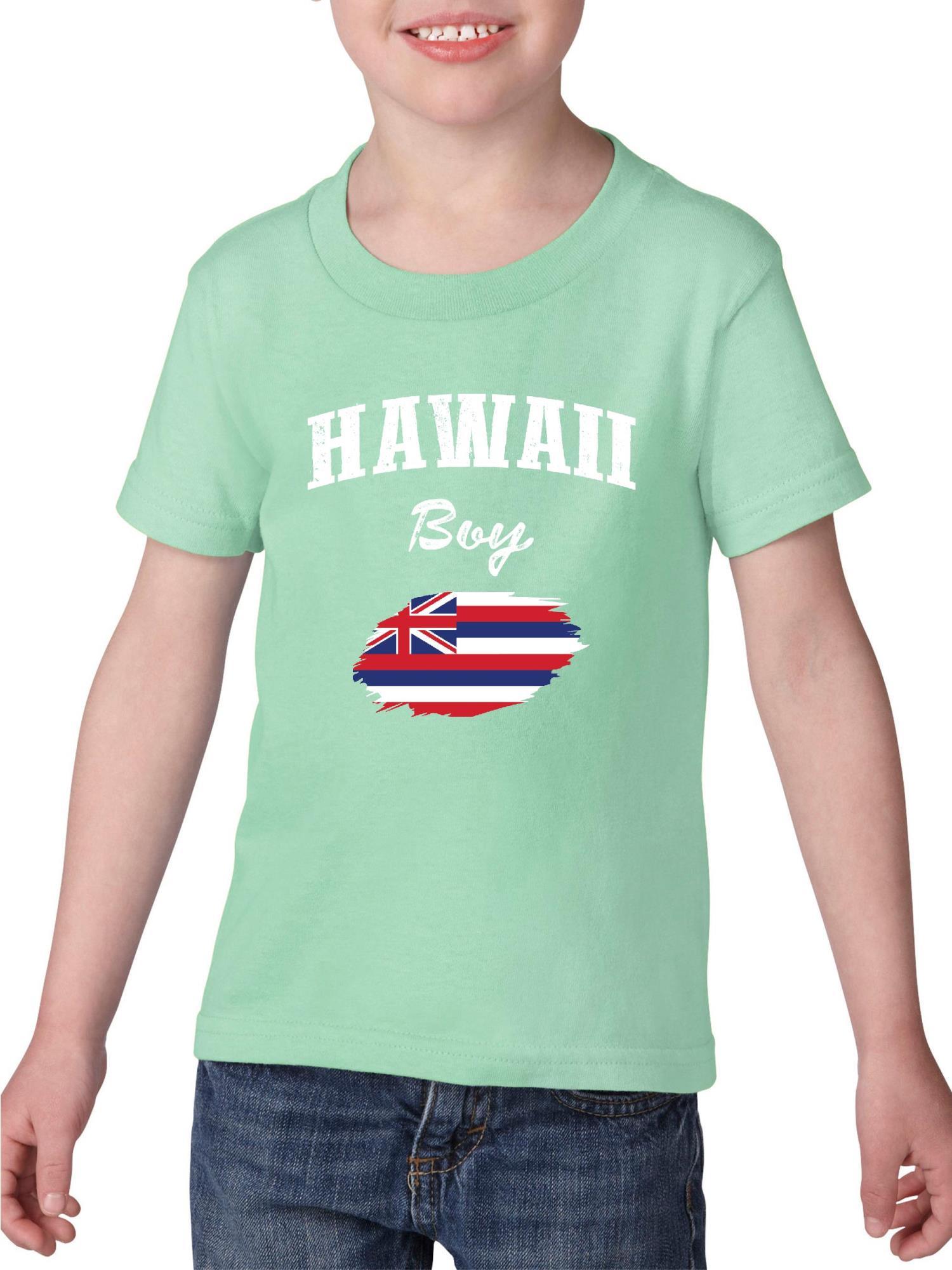 Hawaii Boy Heavy Cotton Toddler Kids T-Shirt Tee Clothing