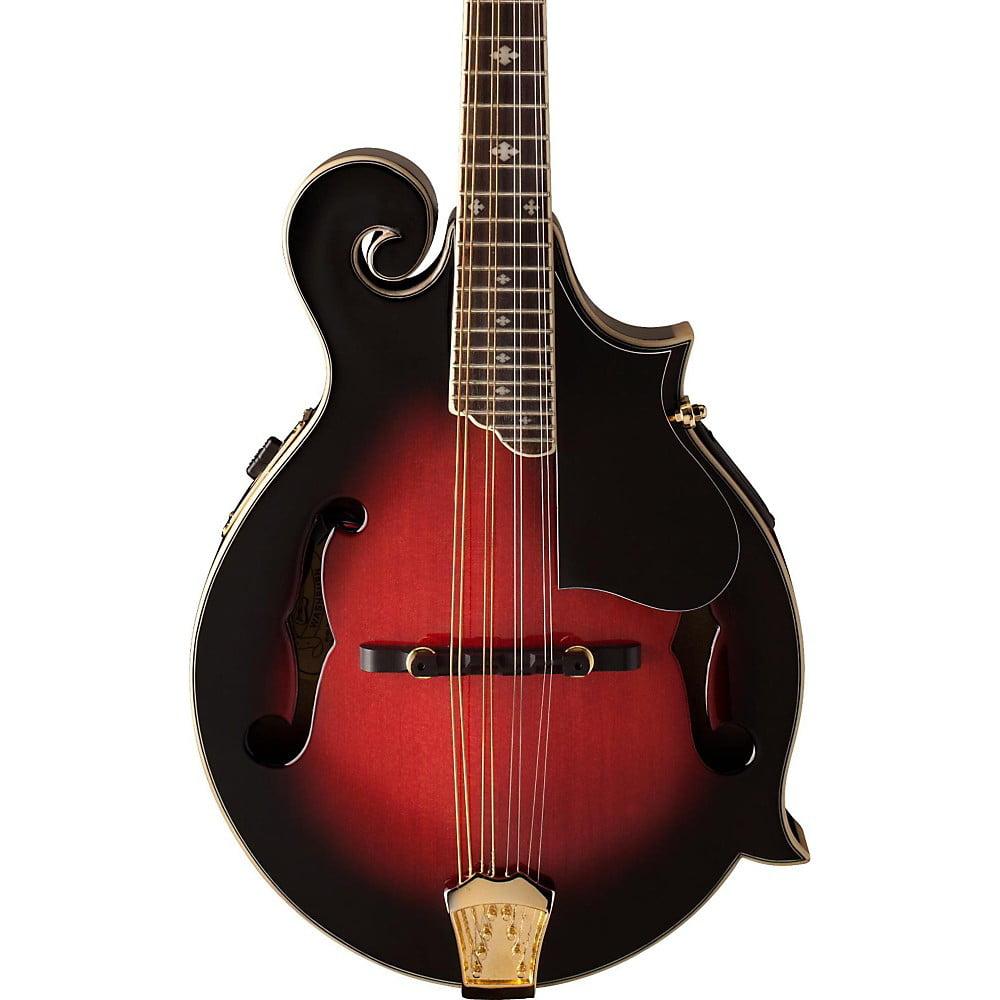 Washburn M3SWE F-Style Acoustic-Electric Mandolin w case Transparent Wine Red by Washburn