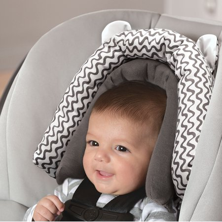 On the Goldbug 2-in-1 Infant Head Support, Grey Squiggle