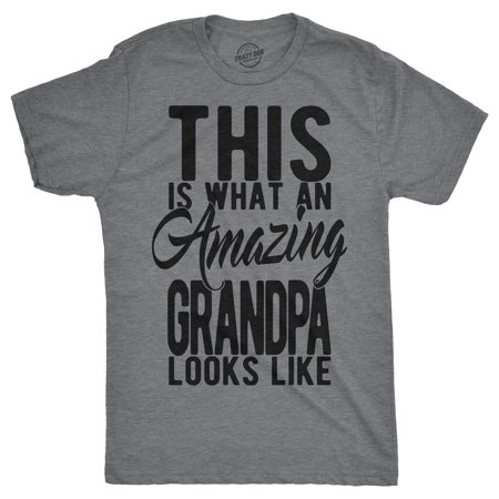 Mens This is What An Amazing Grandpa Looks Lke Tshirt Funny Family Tee For - Family Looks Clothing