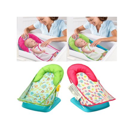 Infant Baby Bather Cradles Bathing Shower Chair Bath Tub Support Seat Chair Foldable Adjustable