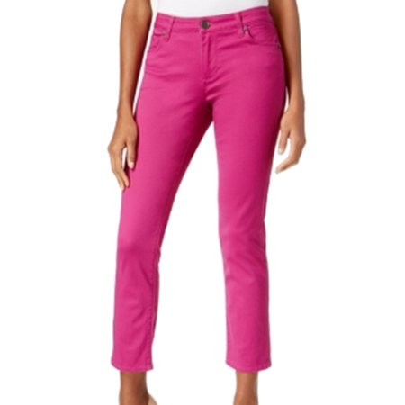 Kut from the Kloth NEW Pink Fuchsia Flare Women's 14 Reese Ankle