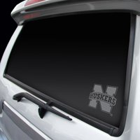 Nebraska Cornhuskers Chrome Window Graphic Decal