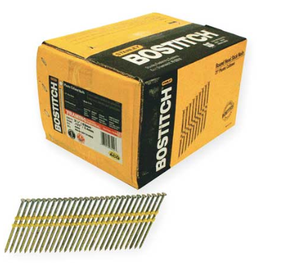 "Bostitch RH-S12D131HDG 3-1/4"" Smooth Shank 21° Stick Framing Nails 4,000 Count"