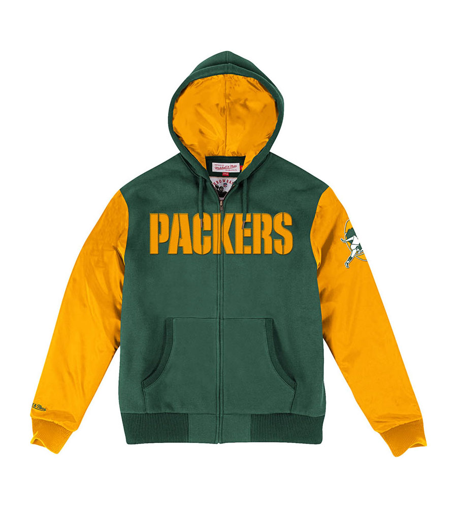Green Bay Packers Hunter Skill Position Men's Jacket by Sports Licensed Division of The Adidas Group