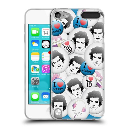 OFFICIAL ONE DIRECTION BUTTON PINS SOFT GEL CASE FOR APPLE IPOD TOUCH MP3