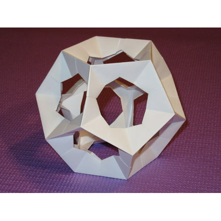 Laminated Poster Origami Dodecahedron Paper Pentagon Platonic Solid
