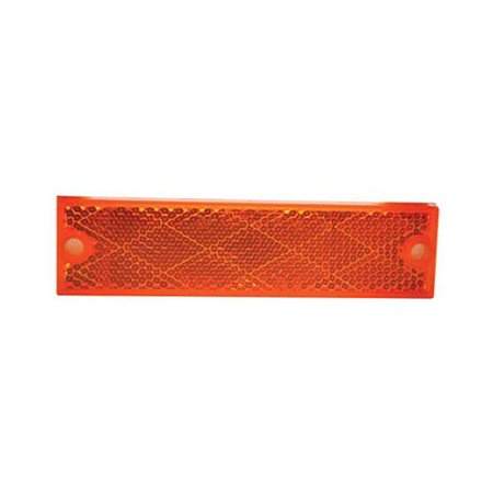 Uriah Products UL487000 Trailer Reflector, Rectangular, Amber, 4-3/8 x 1-1/8-In. - Quantity 1