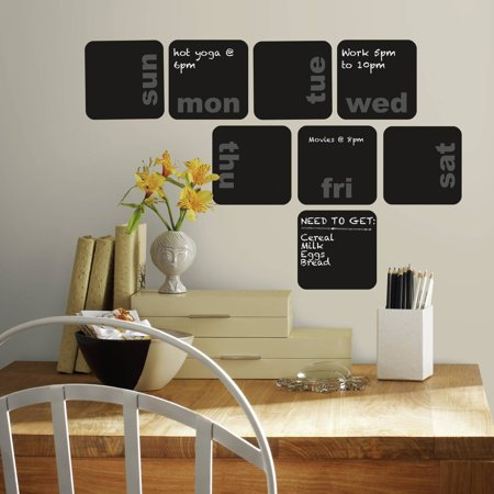 Roommates Days Of The Week Planner Chalkboard Peel And Stick Wall Decals