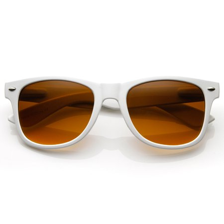 Cp Blue Blocking Driving Horn Rimmed Sunglasses White Amber Tinted (Amber Tinted Sunglasses)