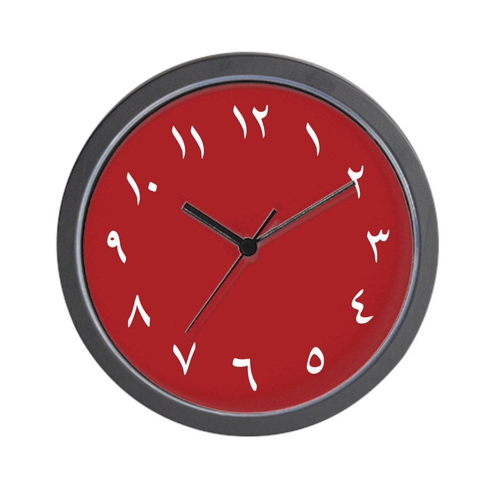 """CafePress Iranian Wall Clock (Red) Unique Decorative 10"""" Wall Clock by"""
