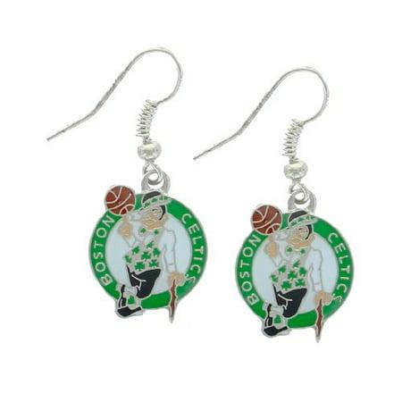 - NBA Boston Celtics Logo Dangler Earrings