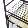 Mainstays 2-Shelf Bathroom Storage Tower with Hamper, Oil Rubbed Bronze