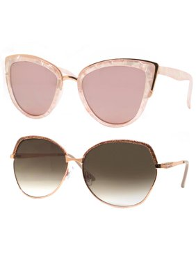 1637080d77 Product Image Time and Tru Women s Metal Sunglasses 2-Pack Bundle  Cat-Eye  Sunglasses and