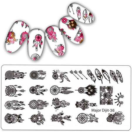 Womail DIY Nail Art Stamp Stamping Plates Manicure Template