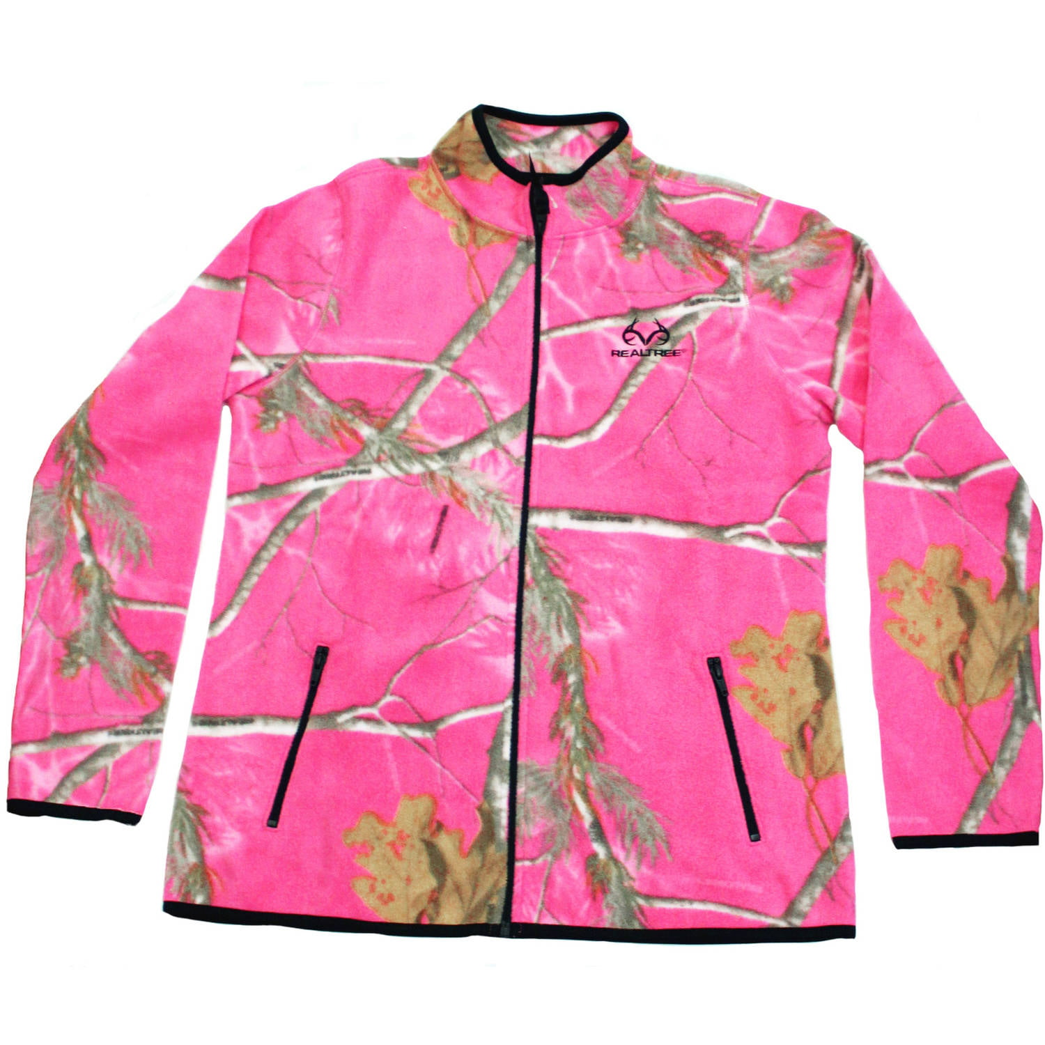 Mossy Oak Women's Fleece Camo Full Zip Jacket, MO Breakup Country by Generic