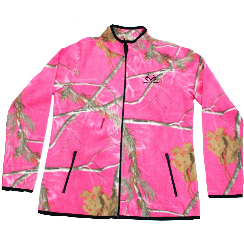 Mossy Oak Women's Fleece Camo Full Zip Jacket, MO Breakup Country