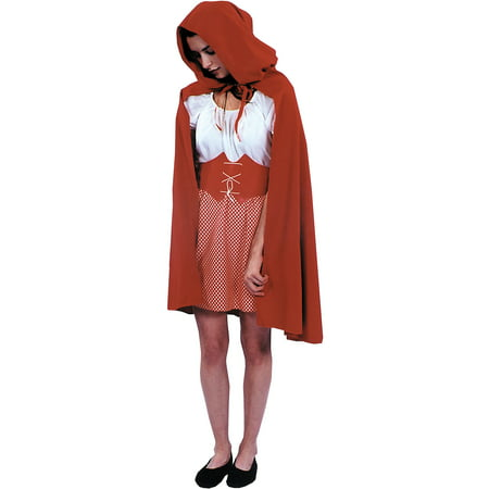 Red Riding Hood Cape Adult Halloween Costume - Halloween Hooded Capes