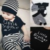 3pcs Newborn Infant Baby Boy Tops Cotton Romper+Long Pants Hat Outfits Clothes Set 0-18M