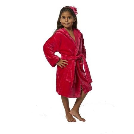 TurkishTowels - Turkishtowels Terry Velour Hooded Kids Bathrobe ... 1f9fe94d7