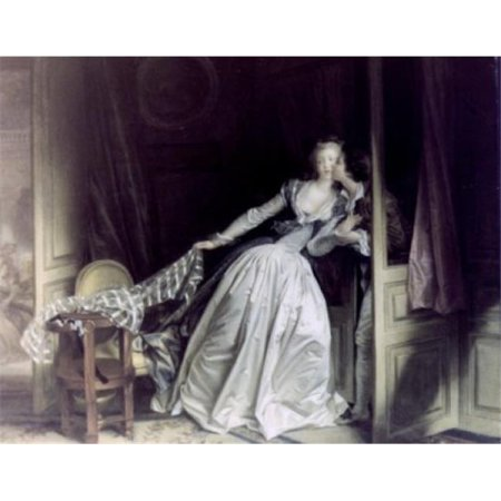 Posterazzi SAL90064969 The Stolen Kiss by Jean Honore Fragonard Oil on Canvas 1780 1732-1806 Russia St Petersburg the Hermitage - 18 x 24 (The Stolen Kiss By Jean Honore Fragonard)