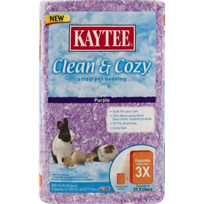 CENTRAL - KAYTEE PRODUCTS, INC CLEAN AND COZY PURPLE - 500 CU IN