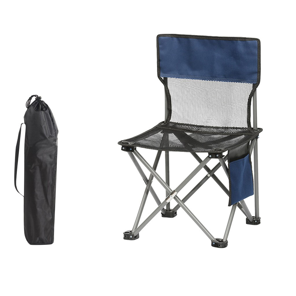 1//2pack Camping Chair Backpack Chairs Outdoor Lightweight Folding Fishing Seat