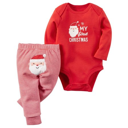 Xmas Santa Newborn Baby Boys Girls Romper Jumpsuit Bodysuit+Long Pants Clothes Outfits Set 0-18M