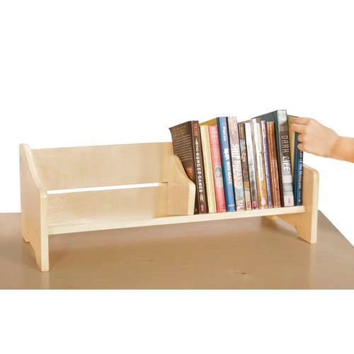 Guidecraft Tabletop Kids Bookshelf Display, Natural Birch