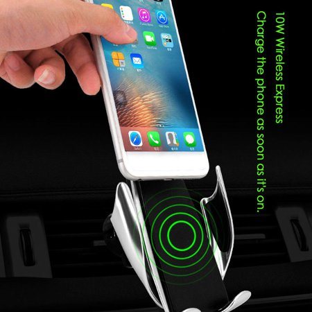 Wireless Car Charger Automatic Clamping Air Vent Phone Holder 360 Degree Rotation Charging Mount Bracket For iPhone Android(Only Charger)