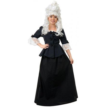Colonial Girl Martha Washington Child Costume - X-Small - Martha Stewart Halloween Party