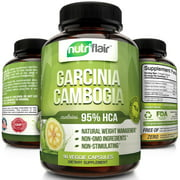 NutriFlair Garcinia Cambogia Weight Loss Supplement, 1400 mg, 90 Capsules