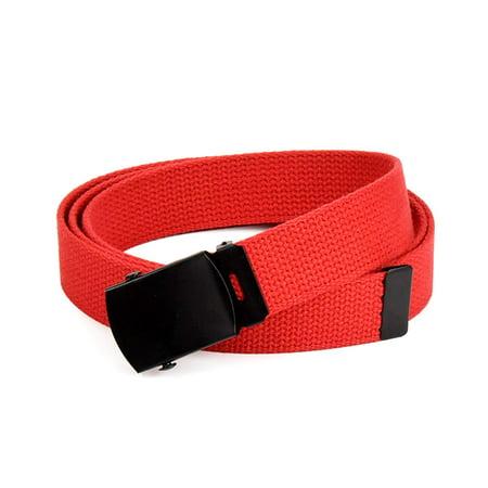 Hold'Em Military Canvas Webbing Belts for MEN Black Slider Buckle Heavy  Duty Adjustable
