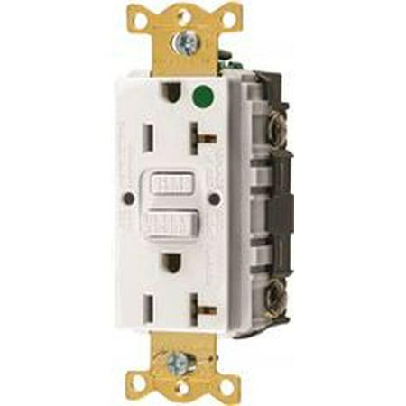 Hubbell Autoguard Hospital Grade Standard Gfci Receptacle White Nema 5 20R 125 Volts 20 Amps