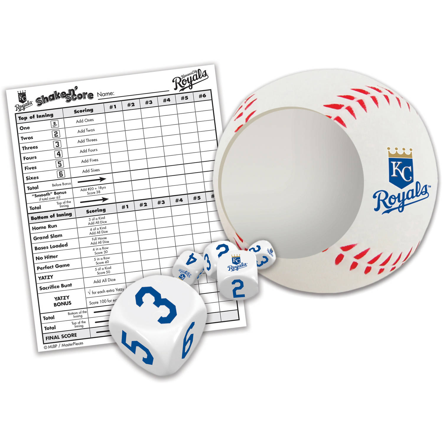 Masterpieces Kansas City Royals Shake N Score