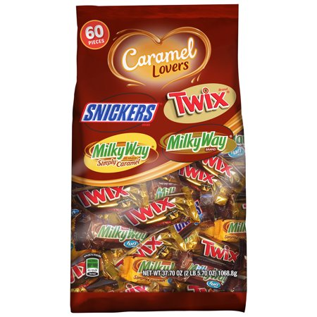 Mars Caramel Lovers Chocolate Candy Variety Mix, 37.7 Oz., 60 Count