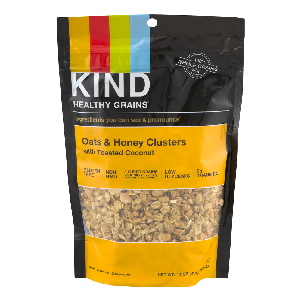 KIND Healthy Grains Granola Oats & Honey Clusters With Toasted Coconut, 11.0 OZ