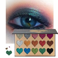 15 Colors Heart Shape Shimmer Eyeshadow Long Lasting Waterproof Palette
