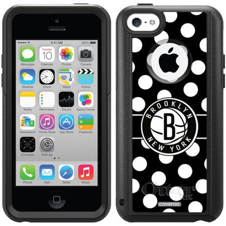 Brooklyn Nets Polka Dots Design on OtterBox Commuter Series Case for Apple iPhone 5c by