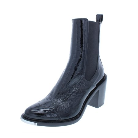 Belstaff Leather - Belstaff Womens Aviland Patent Leather Ankle Booties