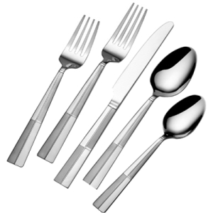 International Silver Arabesque Frost 20-Piece Stainless Flatware Set