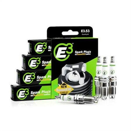 E3 Spark Plugs Spark Plug with Resistor Copper Nickel Alloy Standard Box Of 4 E366 4 Cyl Spark Plug